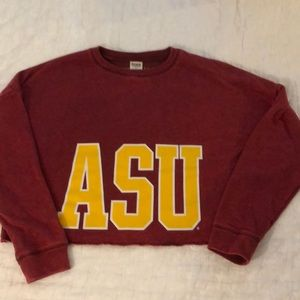 VS PINK ASU Arizona State cropped sweatshirt small